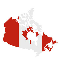 map of canada in national flag colors icon vector image