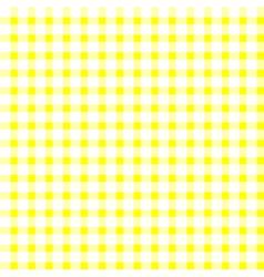 Seamless retro white-yellow square tablecloth vector image