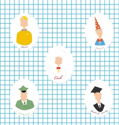 Set of the image of people of different vector
