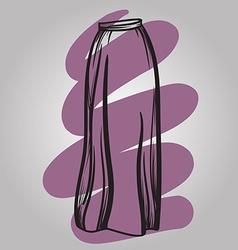 Stylish skirt model hand drawn vector image vector image