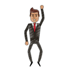 color pencil full body executive man with formal vector image