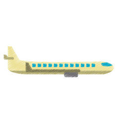 drawing airplane transport flying image vector image