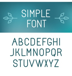 simple font vector image vector image
