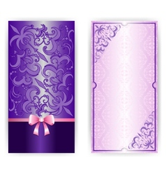 Template for greeting card invitation vector image