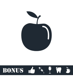Apple icon flat vector image