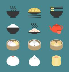 chinese cuisine dim sum vector image vector image