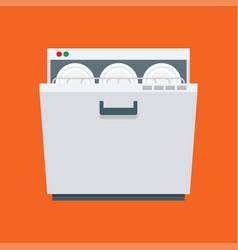 dishwasher icon isolated on white background vector image