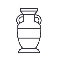 interior vase line icon sign vector image