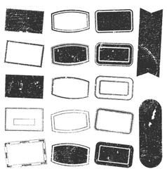 Rectangle Stamp Set Grunge vector image