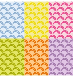Set of seamless geometric pattern with waves vector image vector image