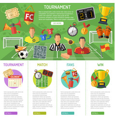 soccer banner and infographics vector image vector image