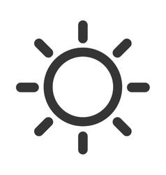 sun sunny summer isolated vector image