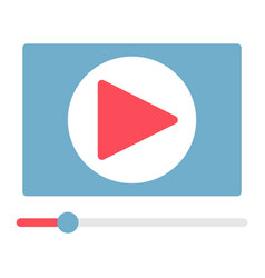video marketing flat icon seo and development vector image vector image