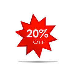 20 off sale discount banner special offer vector image