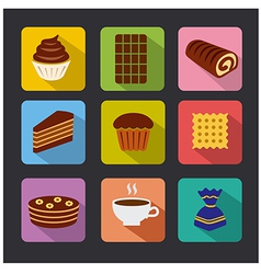 confectionery icons color vector image vector image