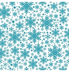 Large and small blue snowflake seamless vector image