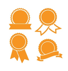 medal icon set vector image