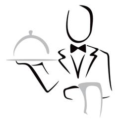 Serving dinner vector image