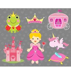 Set of Princess Party Clip Art vector image vector image