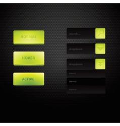 Web site design navigation elements with icons set vector image