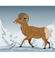 Wild Ram in the Mountains2 vector image