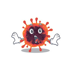 A cartoon character corona virus zone making vector