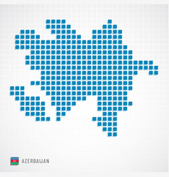 Azerbaijan map and flag icon vector
