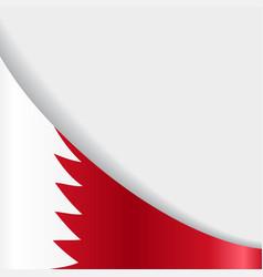 Bahrain flag background vector