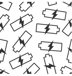 Battery charge level indicator seamless pattern vector
