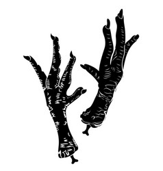 black magic chicken legs vector image