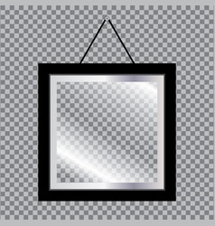 Blank photo frame with glass isolated on vector
