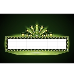 Brightly theater glowing green retro cinema neon vector image