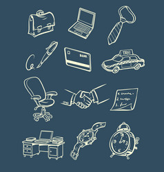 business accessories things a businessman vector image