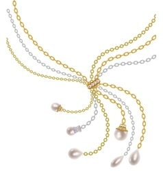 Chains with pearls vector