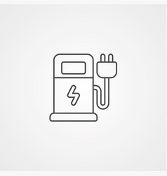 charge station icon sign symbol vector image