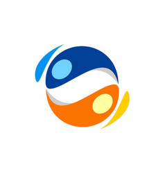 circle balance abstract colored logo vector image