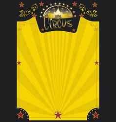 Circus retro yellow poster vector