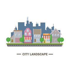 City landscape flat design vector