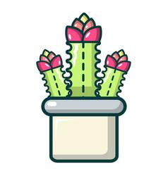 Cleistocactus icon cartoon style vector