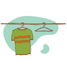 Cloth and hangers vector