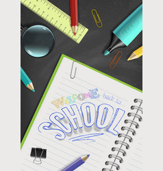 concept welcome back to school design of vector image