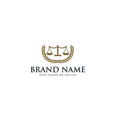 Creative logo design concept law scales vector