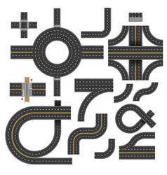 crossroads and highway street road segments rout vector image