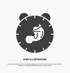 Delivery time baby birth child icon glyph gray vector