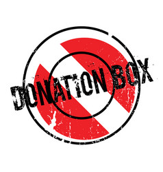 Donation box rubber stamp vector