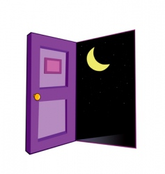 Door night vector