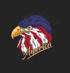 Eagle head america vector