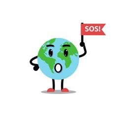 earth planet ask sos vector image