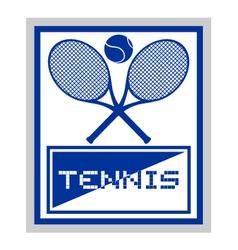 elegant tennis symbol vector image