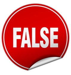 False round red sticker isolated on white vector